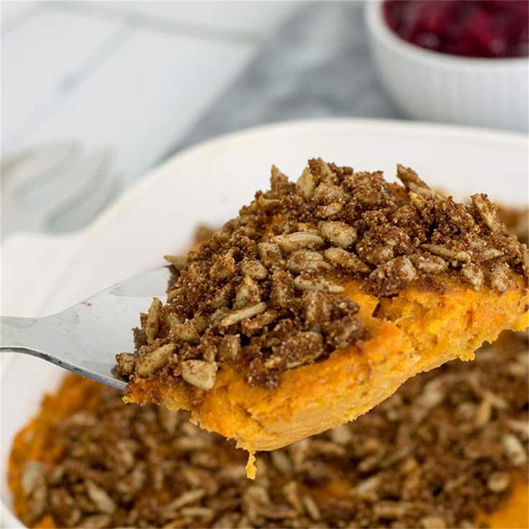 Simple Healthy Sweet Potato Casserole