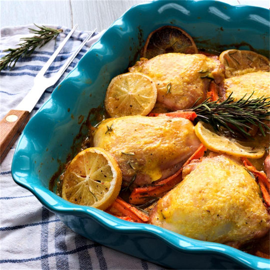 Rosemary chicken – Baked chicken thighs