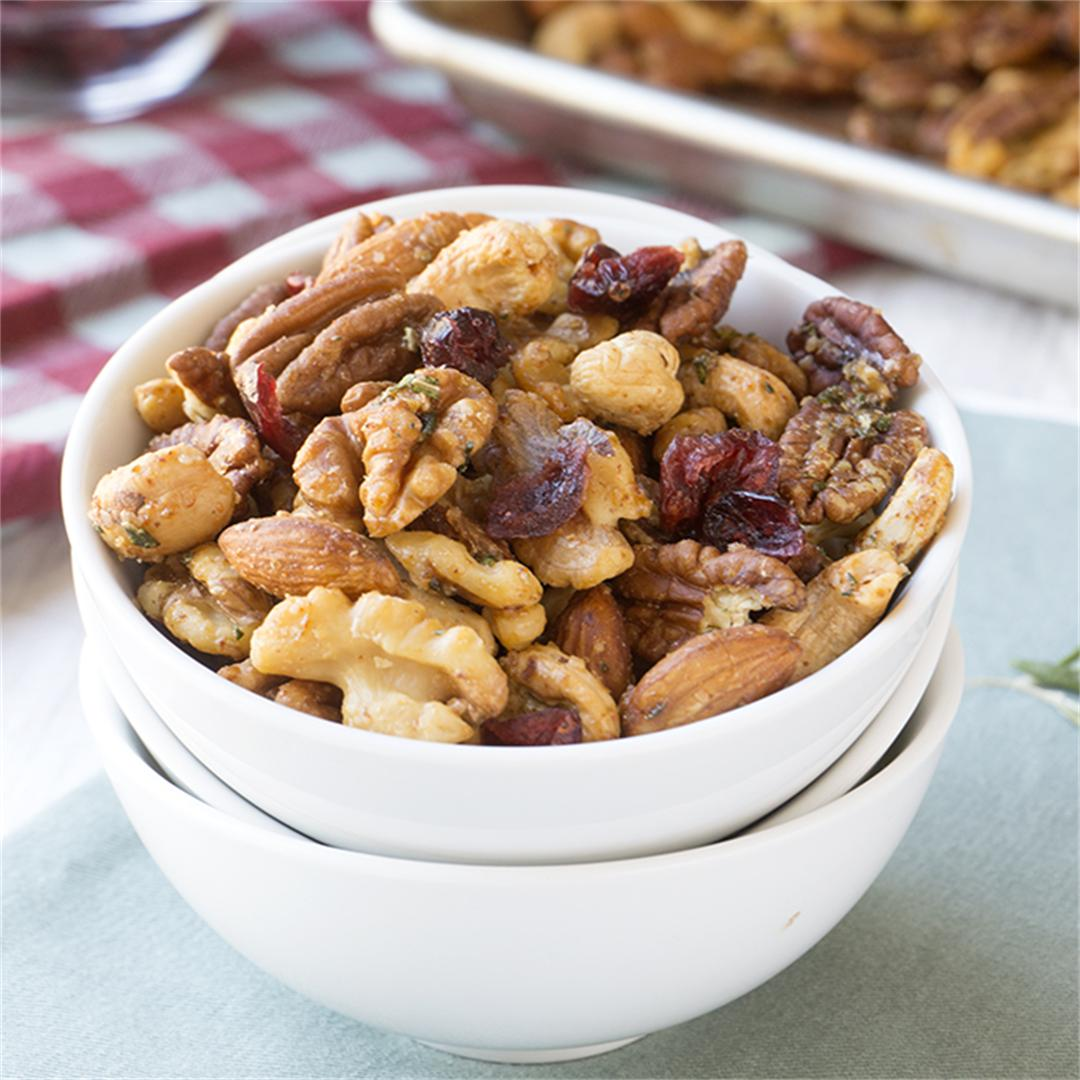 Sweet + Spicy Holiday Nut Mix