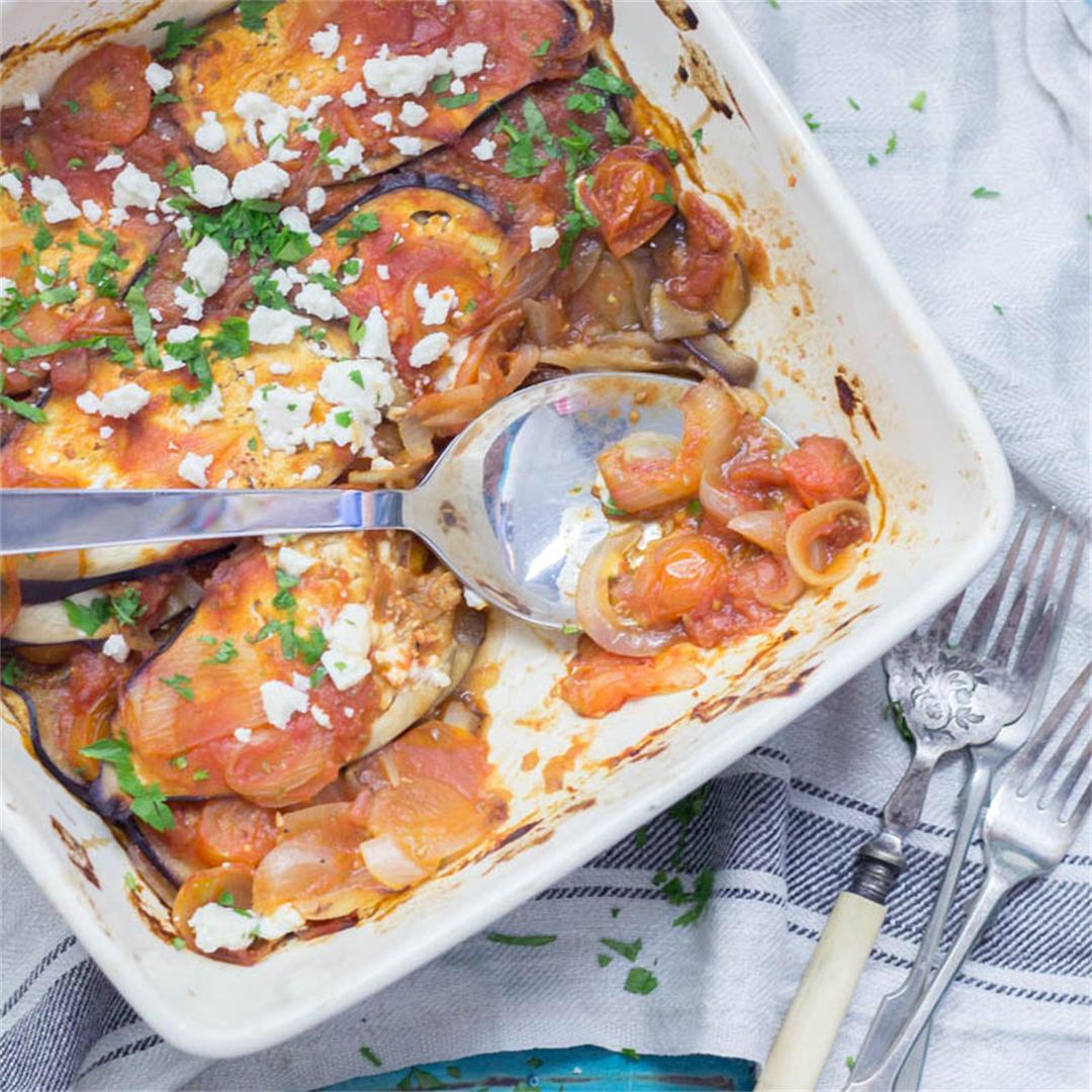 Baked Aubergine in Tomato Sauce