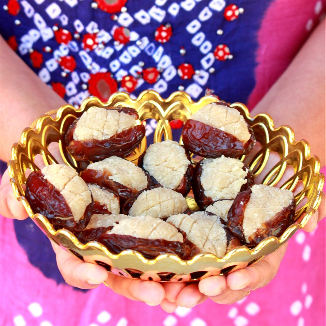 Moroccan Stuffed Dates | Dates Stuffed with Almond Paste
