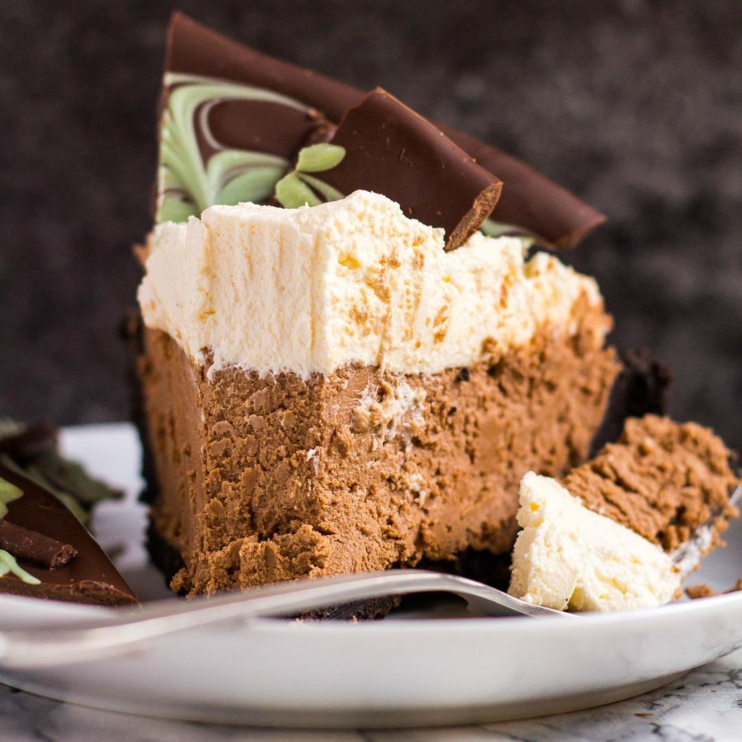 No-Bake Mint Chocolate Cream Pie