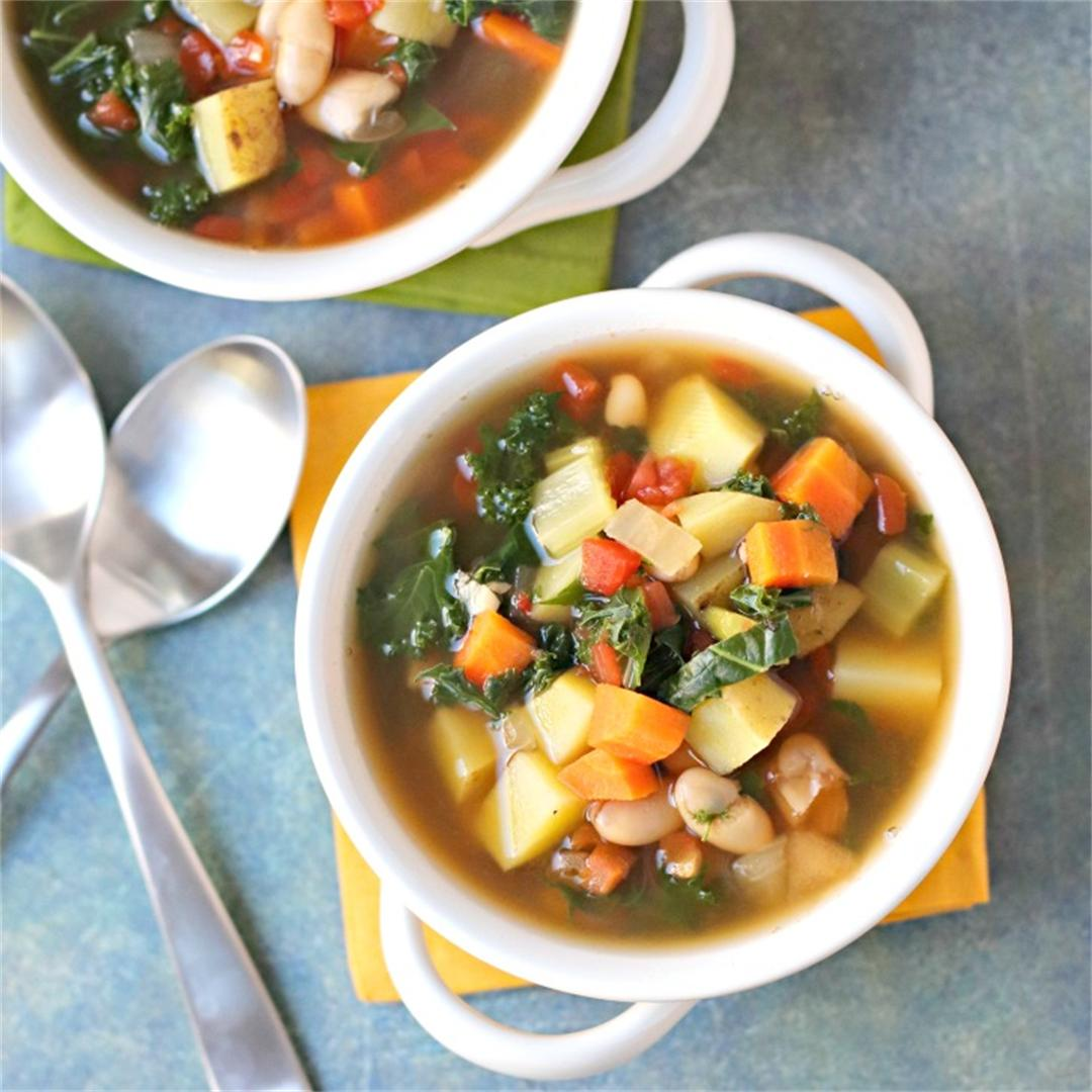 Vegetable Bean Soup (Oil-Free)