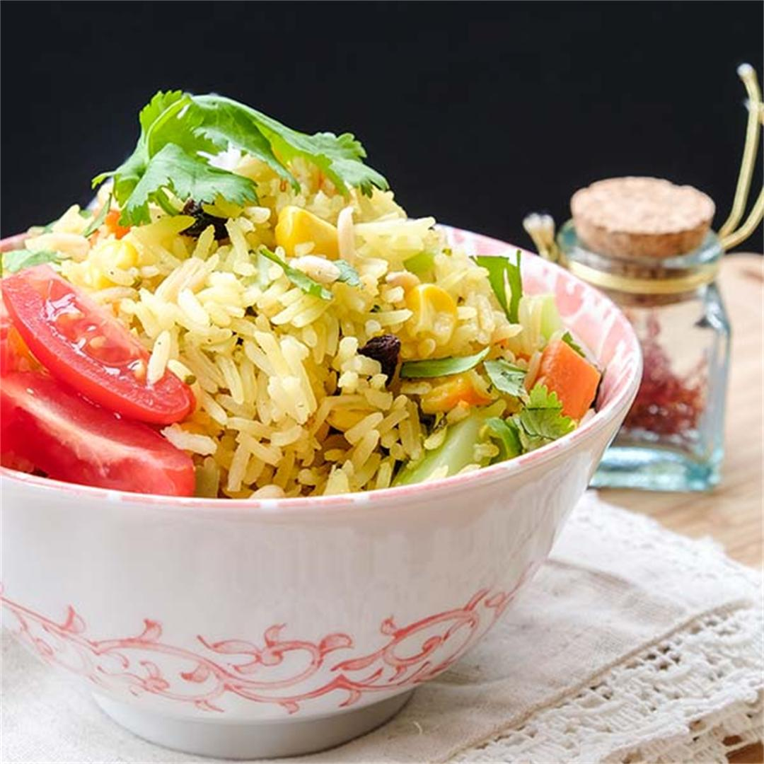 Vegetarian Biryani Rice - Easy Recipe