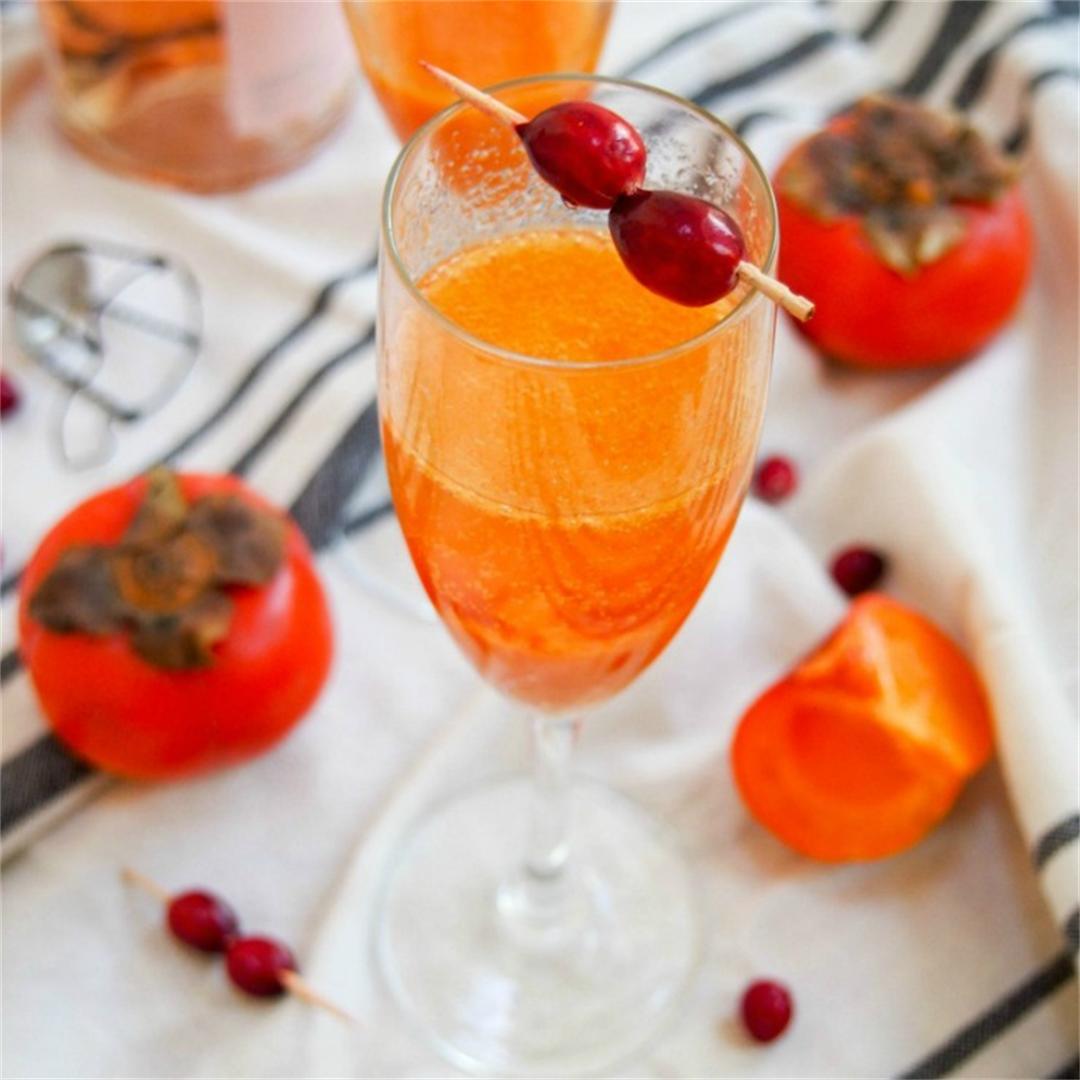Persimmon apple cider mimosa