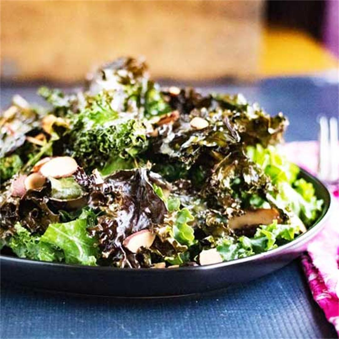 Superfood Kale Salad w/ Miso Dressing