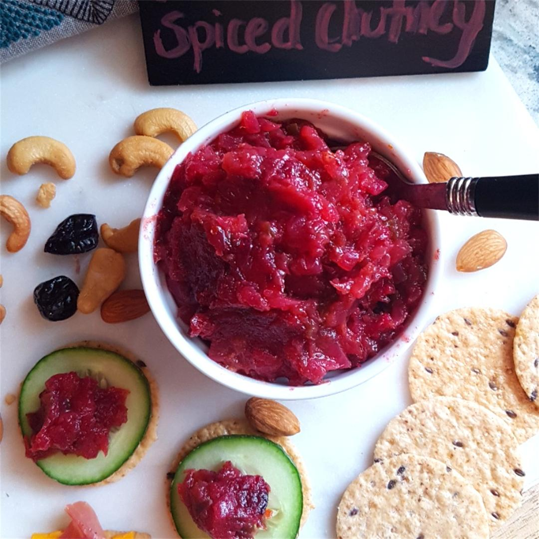 Spiced Cranberry Pineapple Chutney