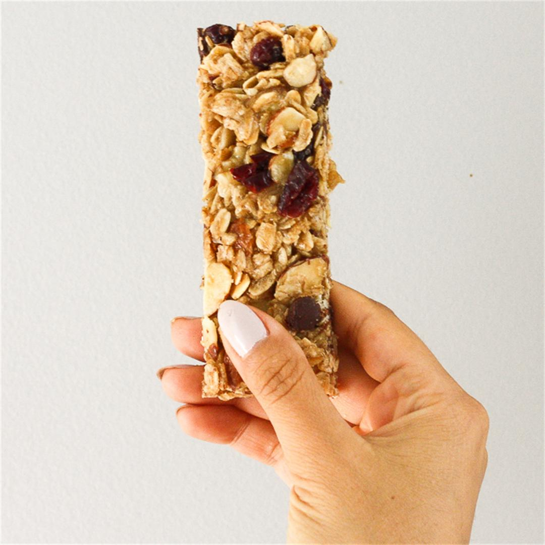 Almond Cranberry Chocolate Granola Bars