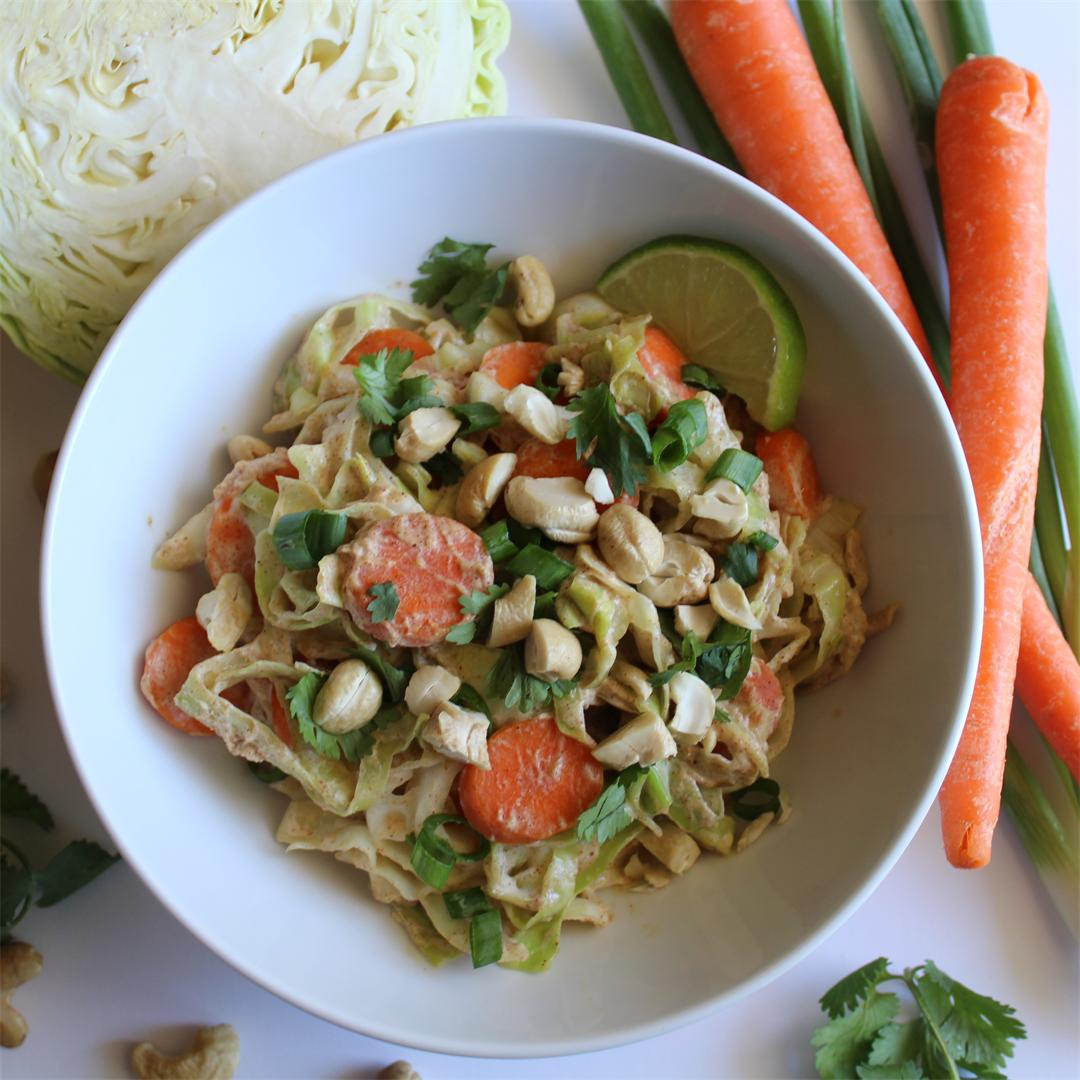 Cabbage Noodle Pad Thai - Gluten & Dairy Free