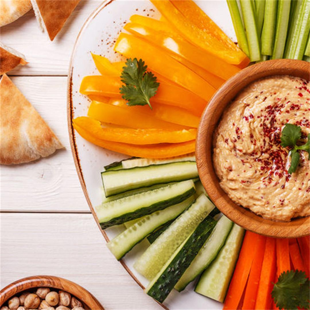Veggies with Smoked Tofu Spread Dip