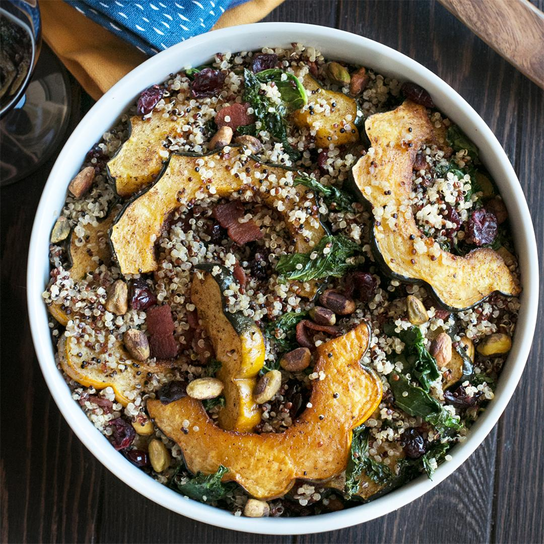 Harvest Squash Avocado Quinoa Salad
