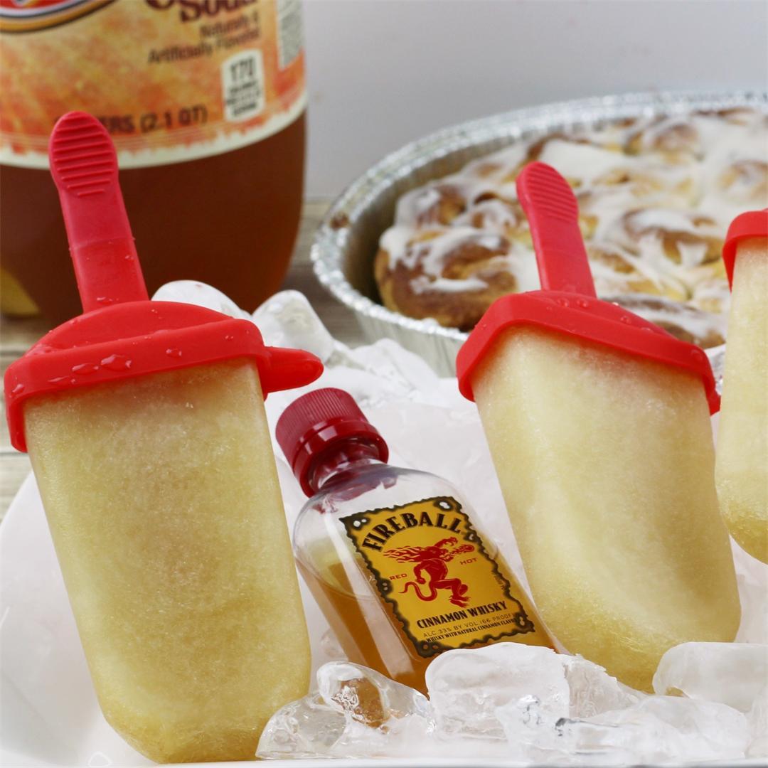 Cinnamon Roll Boozy Ice Pops