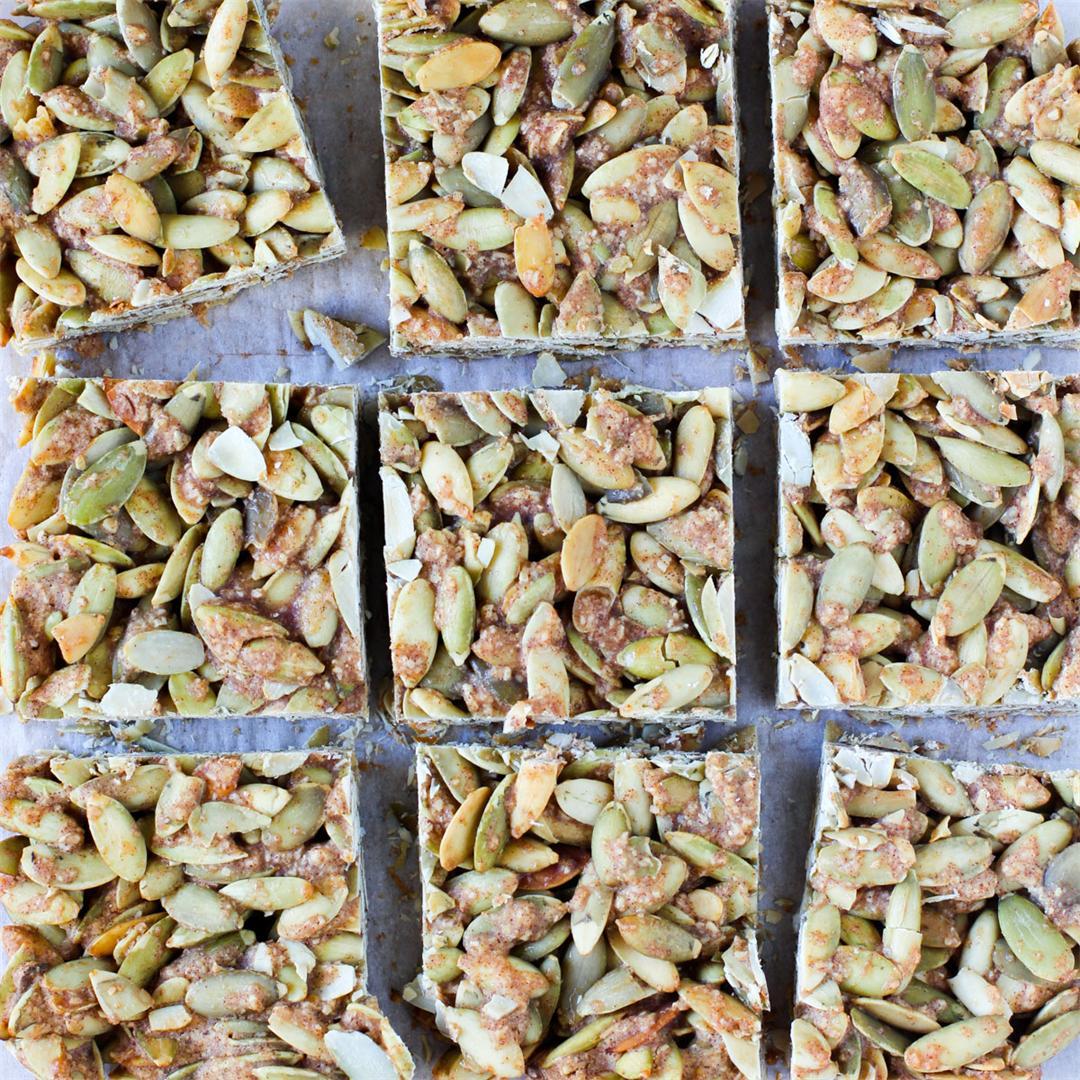 5 Ingredient Pumpkin Seed Bars