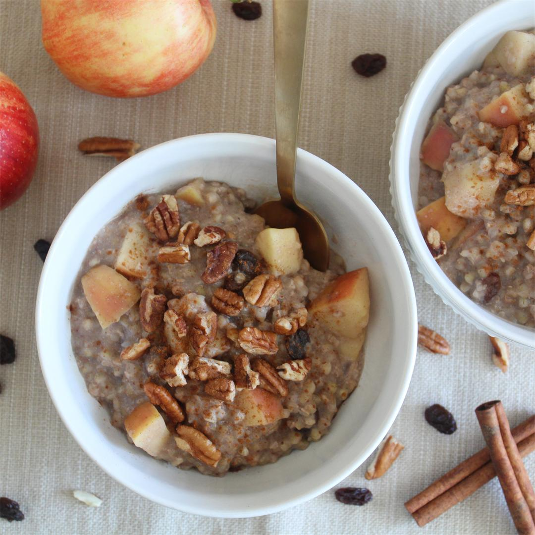 Apple Cinnamon Buckwheat Porridge