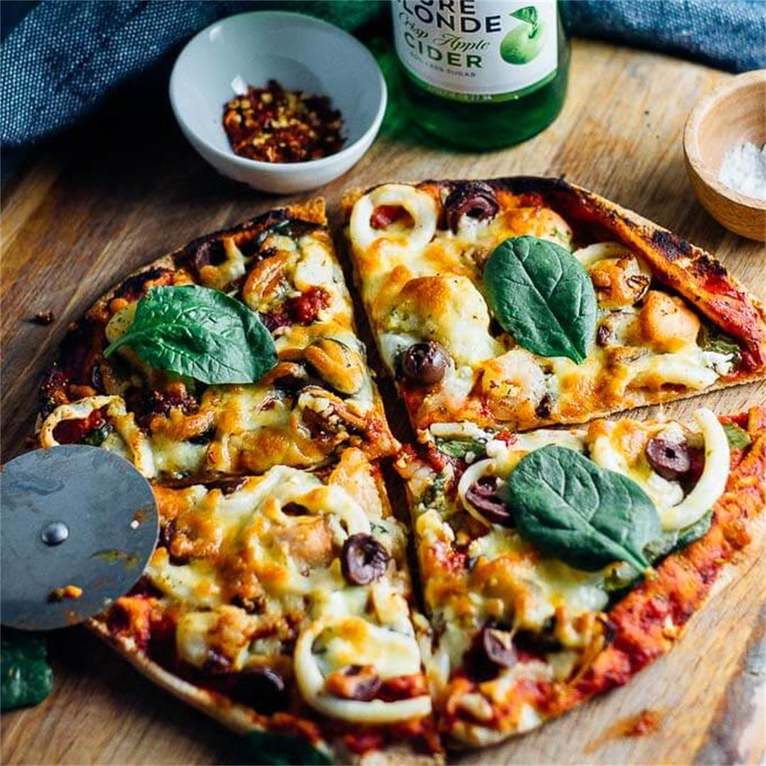 Seafood Marinara Pizza For One