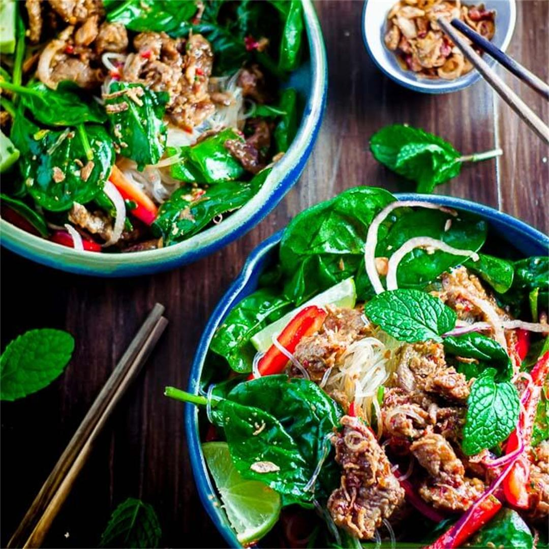 Crunchy Thai Beef Salad