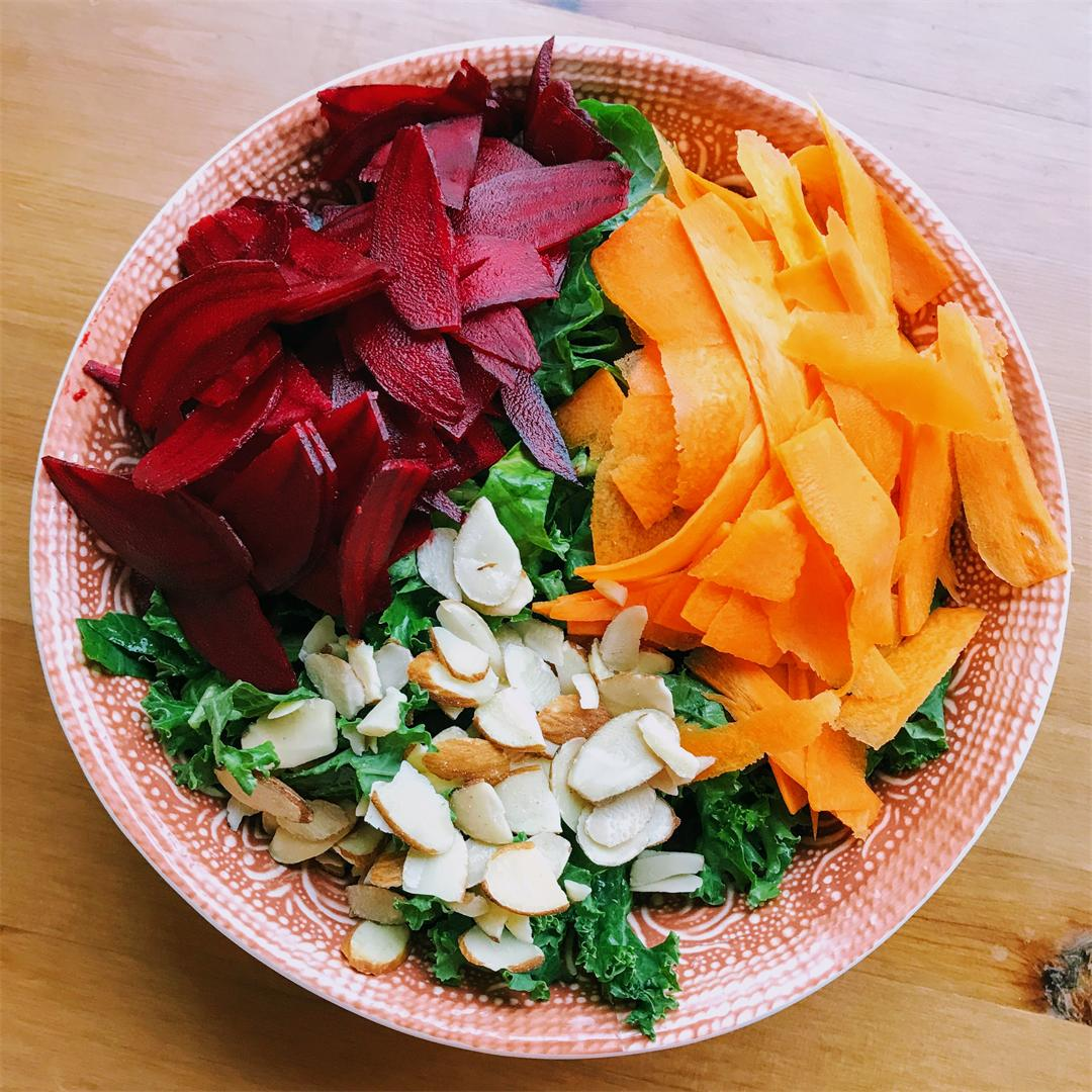 Kale beet and carrot salad