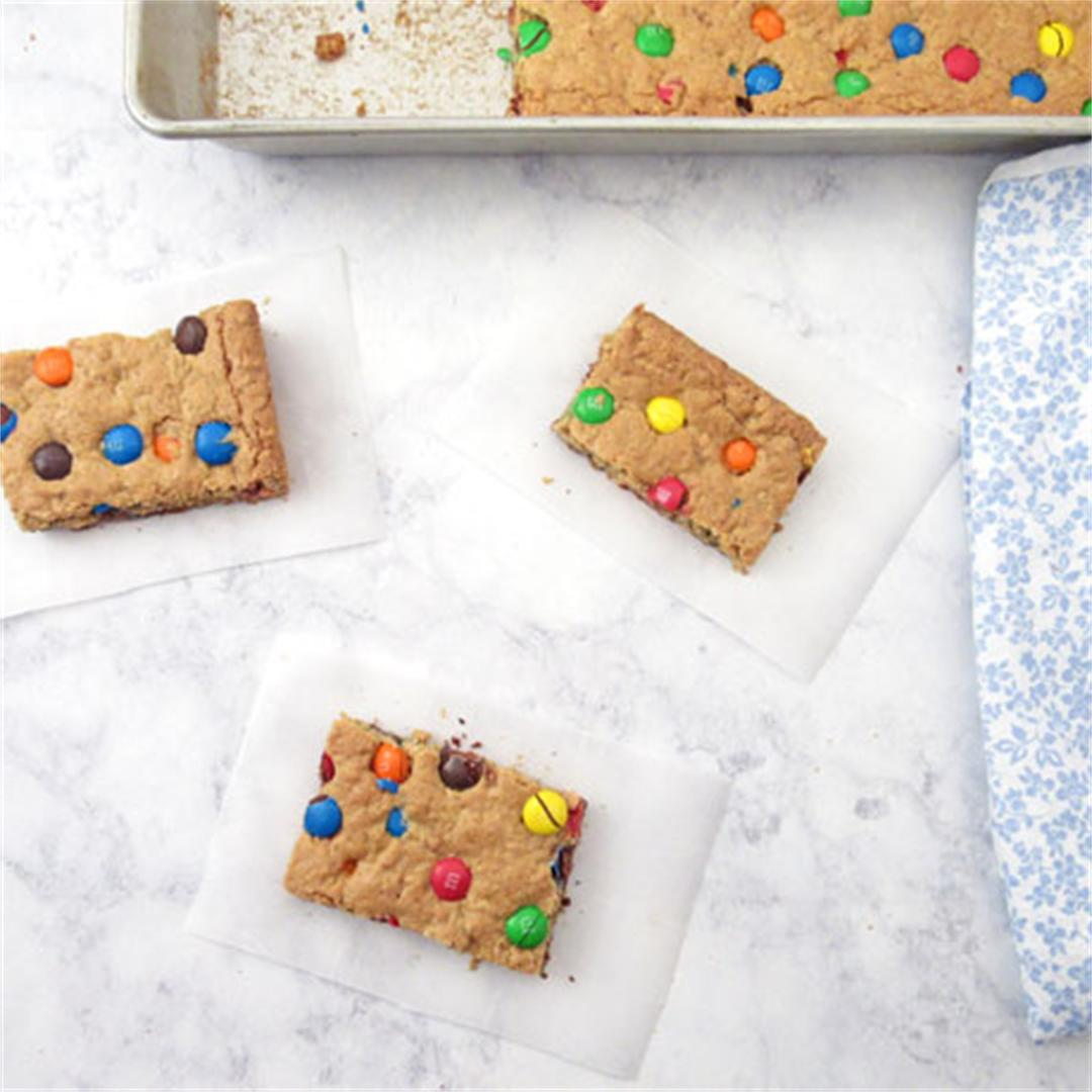 Homemade Oatmeal Bars with M&M's