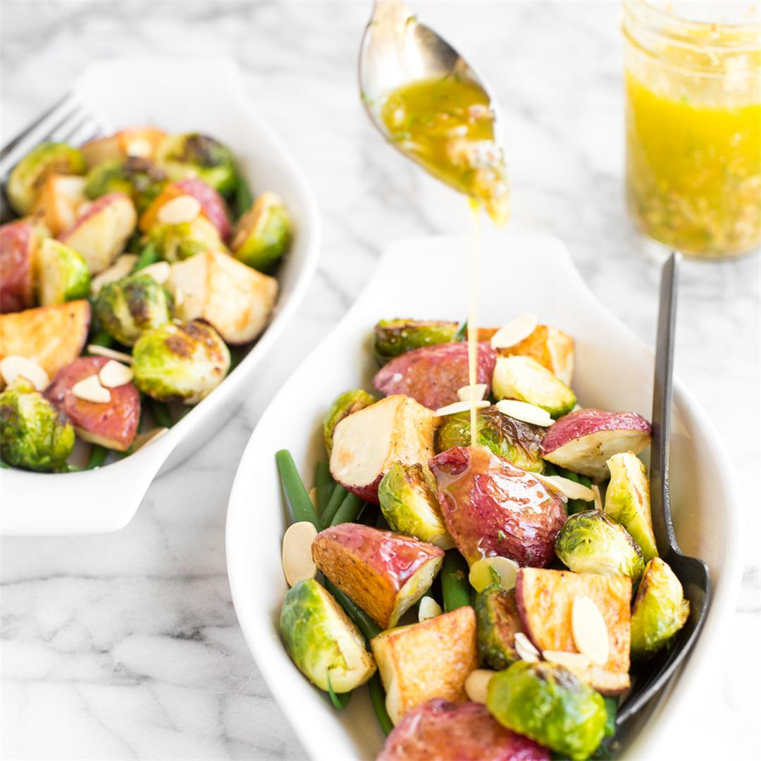 Roasted Brussels Sprouts Salad with Dijon Vinaigrette