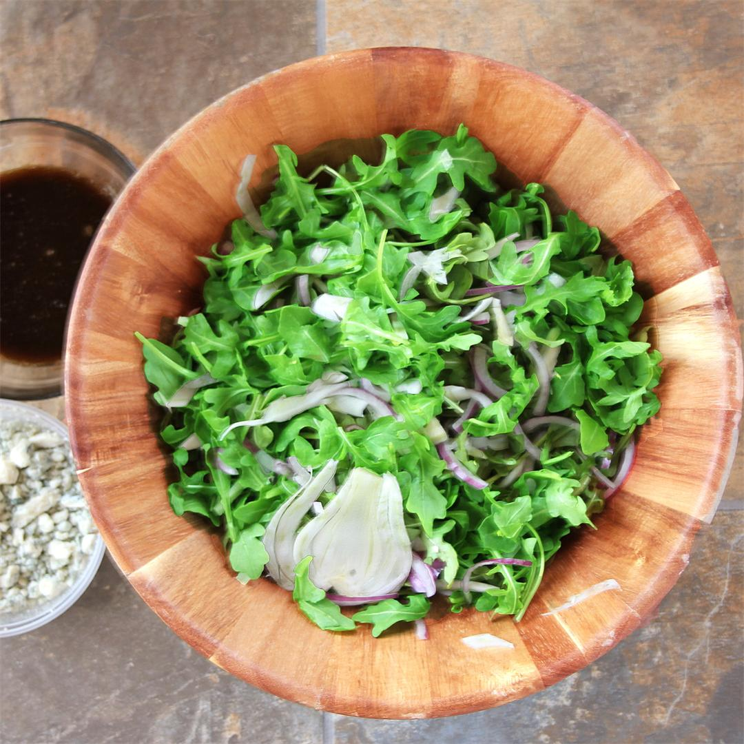 Arugula-Shaved-Fennel Salad