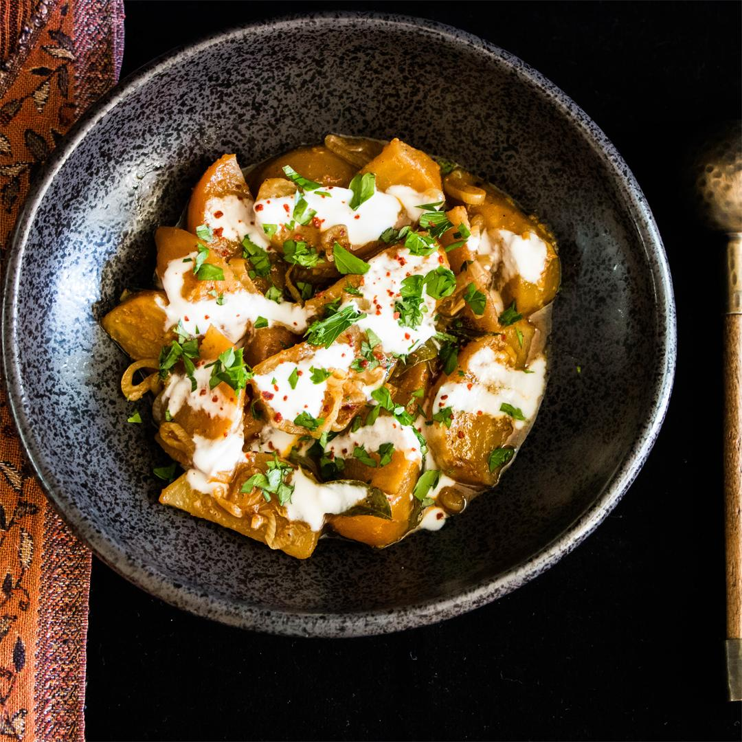 Curried Golden Beets with Browned Butter