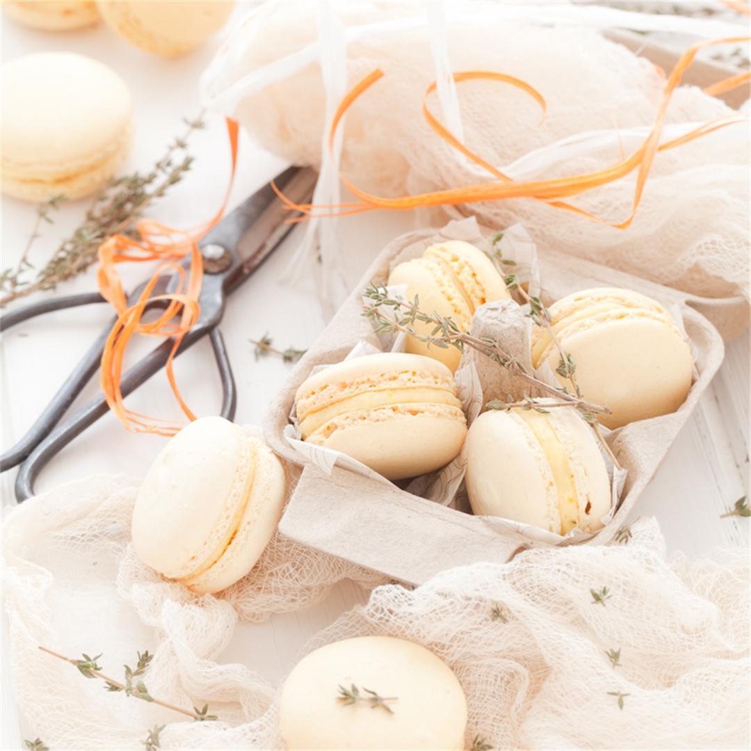 Orange Thyme Macarons
