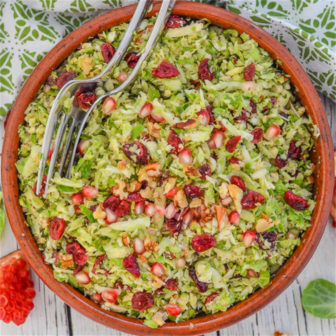 Cranberry Pecan Brussels Sprout Salad