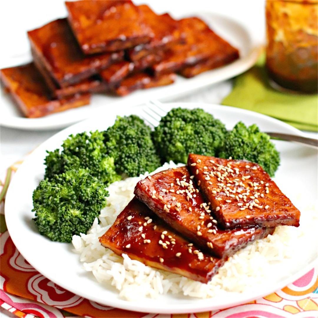 Baked Teriyaki Tofu (Oil-Free)