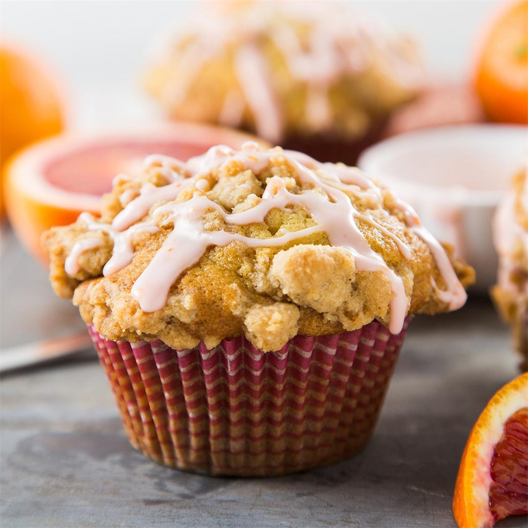 Blood Orange Crumb Muffins