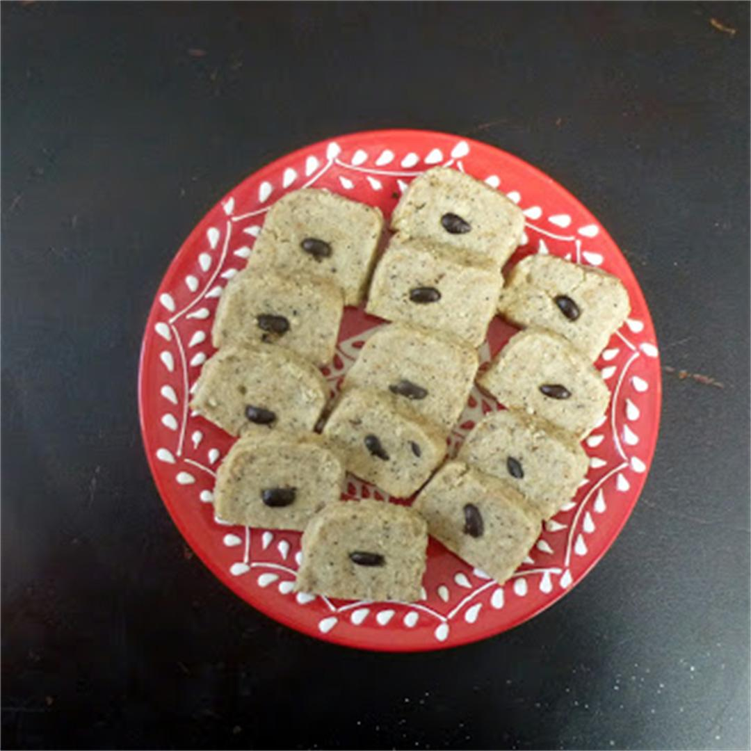 Coffee Almond Shortbread Cookies