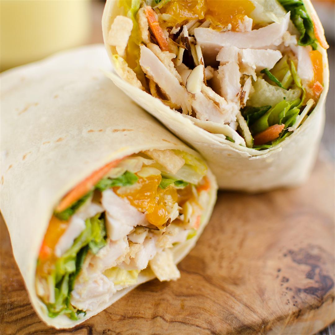 Light Crunch Orange Chicken Wrap