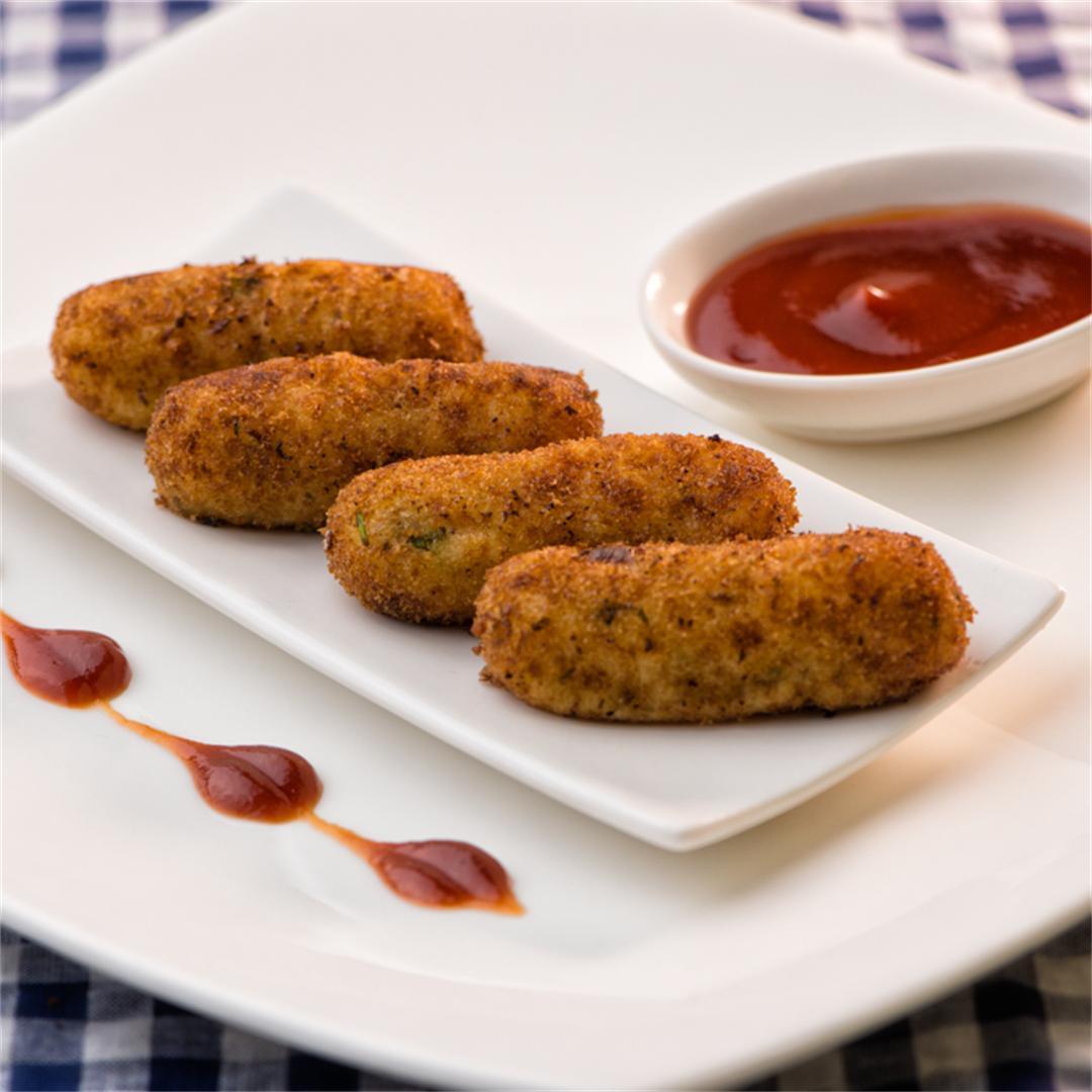 Crispy Paneer Fingers/ Paneer Cutlets