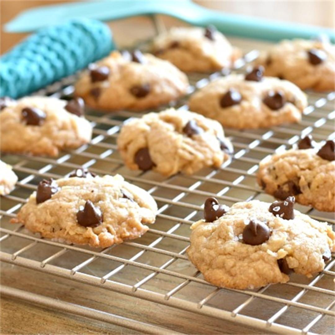 Chocolate Chip Cookies with Coconut, Brown Butter & Sea Salt