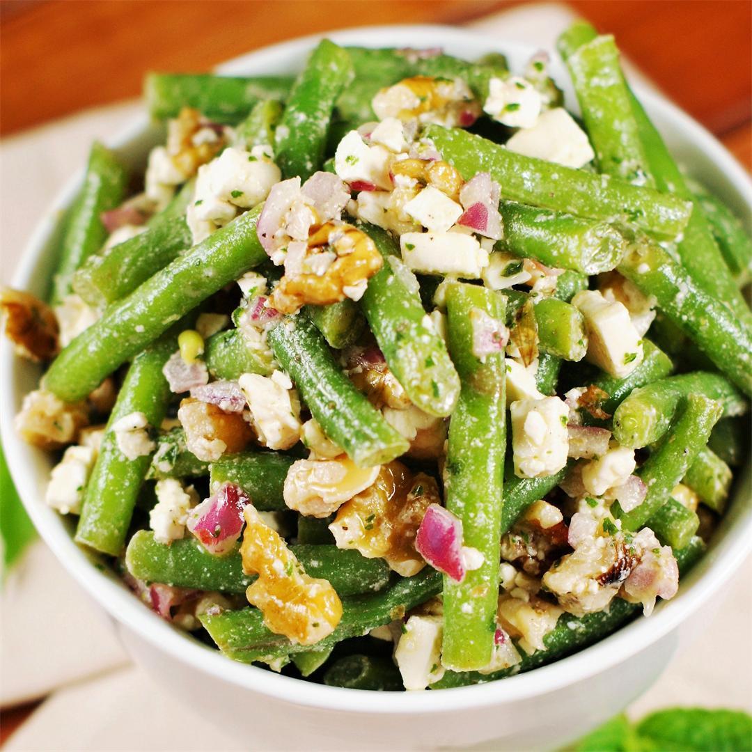 Fresh Green Bean, Walnut & Feta Salad