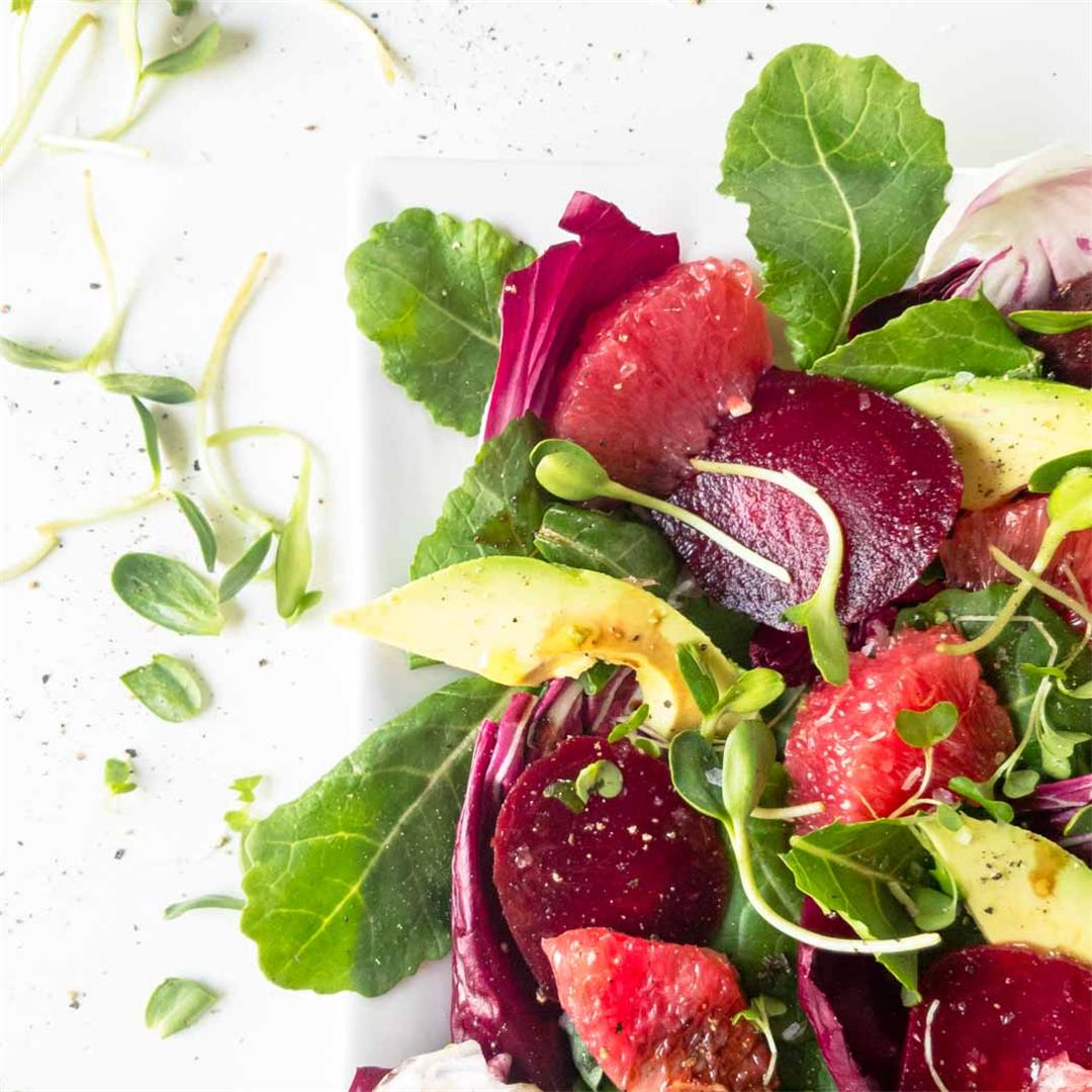 Refreshing Winter Salad with Beets, Avocado and Grapefruit