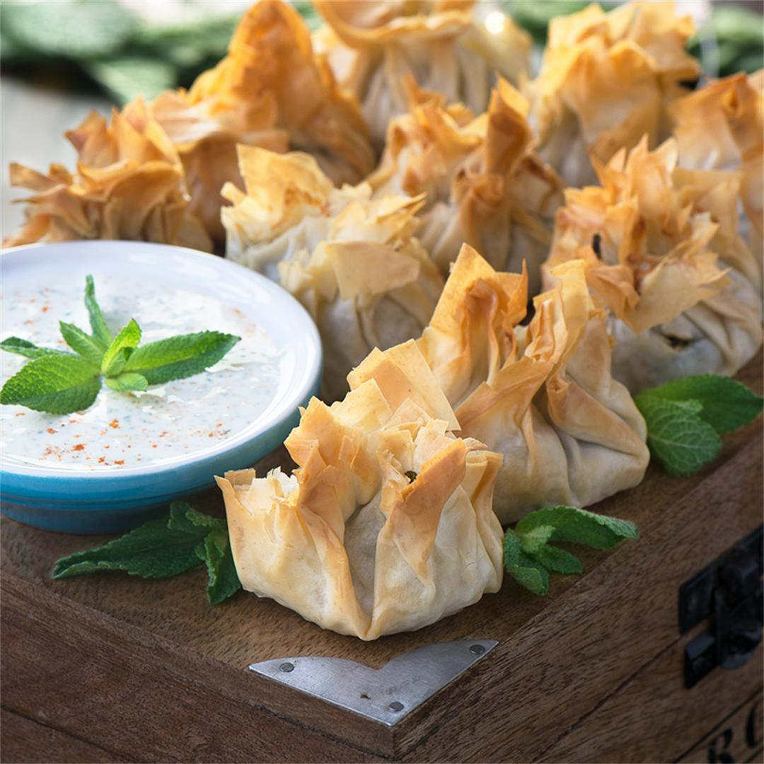 Lamb and Feta Filo Parcels
