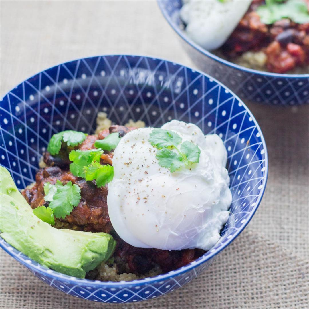 Huevos Rancheros Quinoa Breakfast Bowls