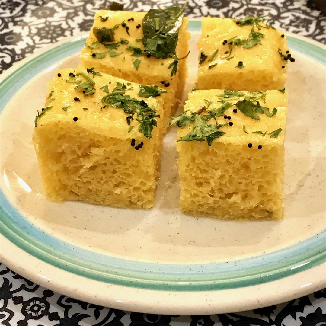 Light & fluffy, a tasty Gujarati snack made from chickpea flour