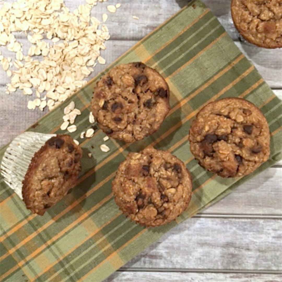 One Bowl Loaded Oat Muffins