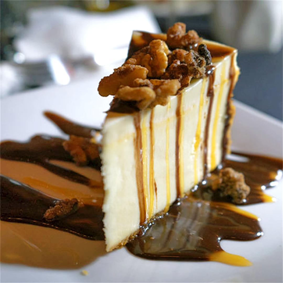 Turtle Cheesecake, the perfect way to end a 5 course meal!