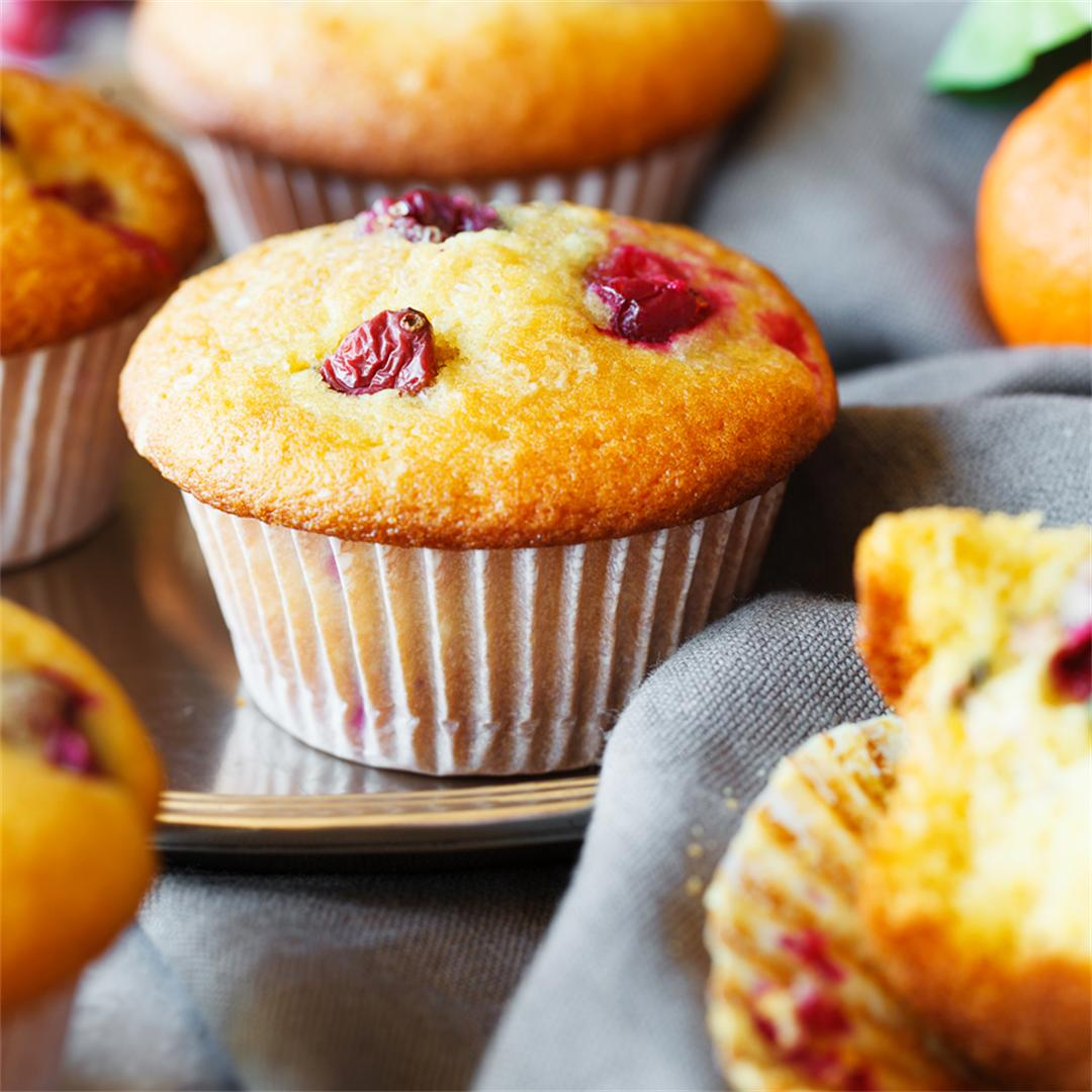 Tangerine and Cranberry Muffins