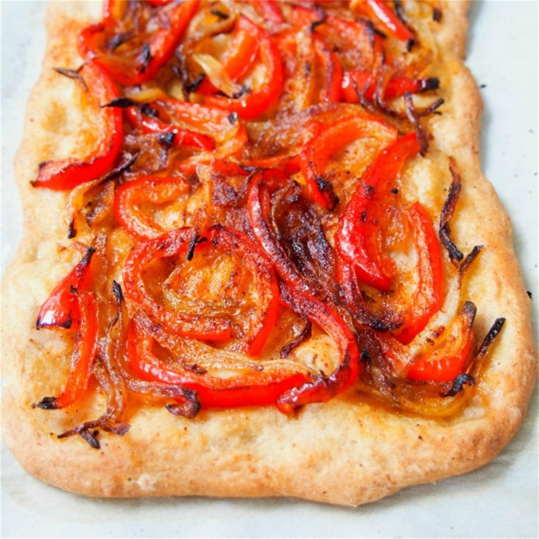 Catalan coca (Spanish pizza)