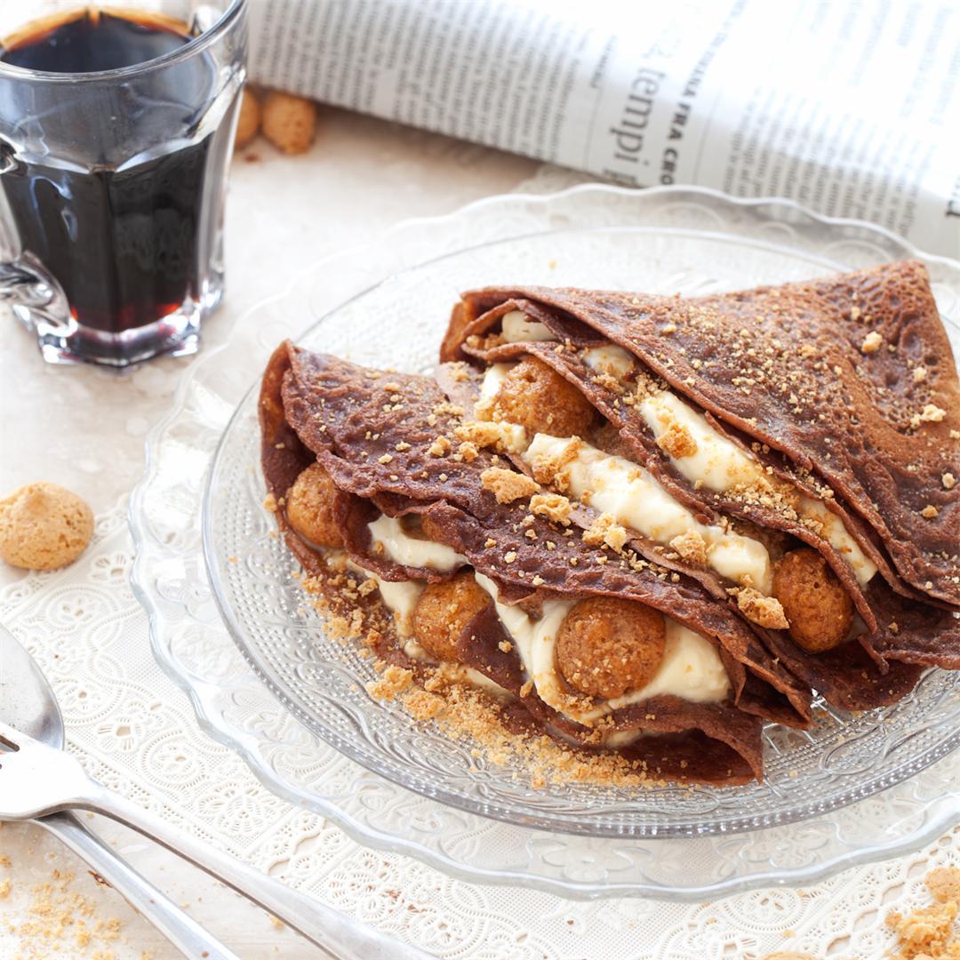 Chocolate Tiramisu Pancakes