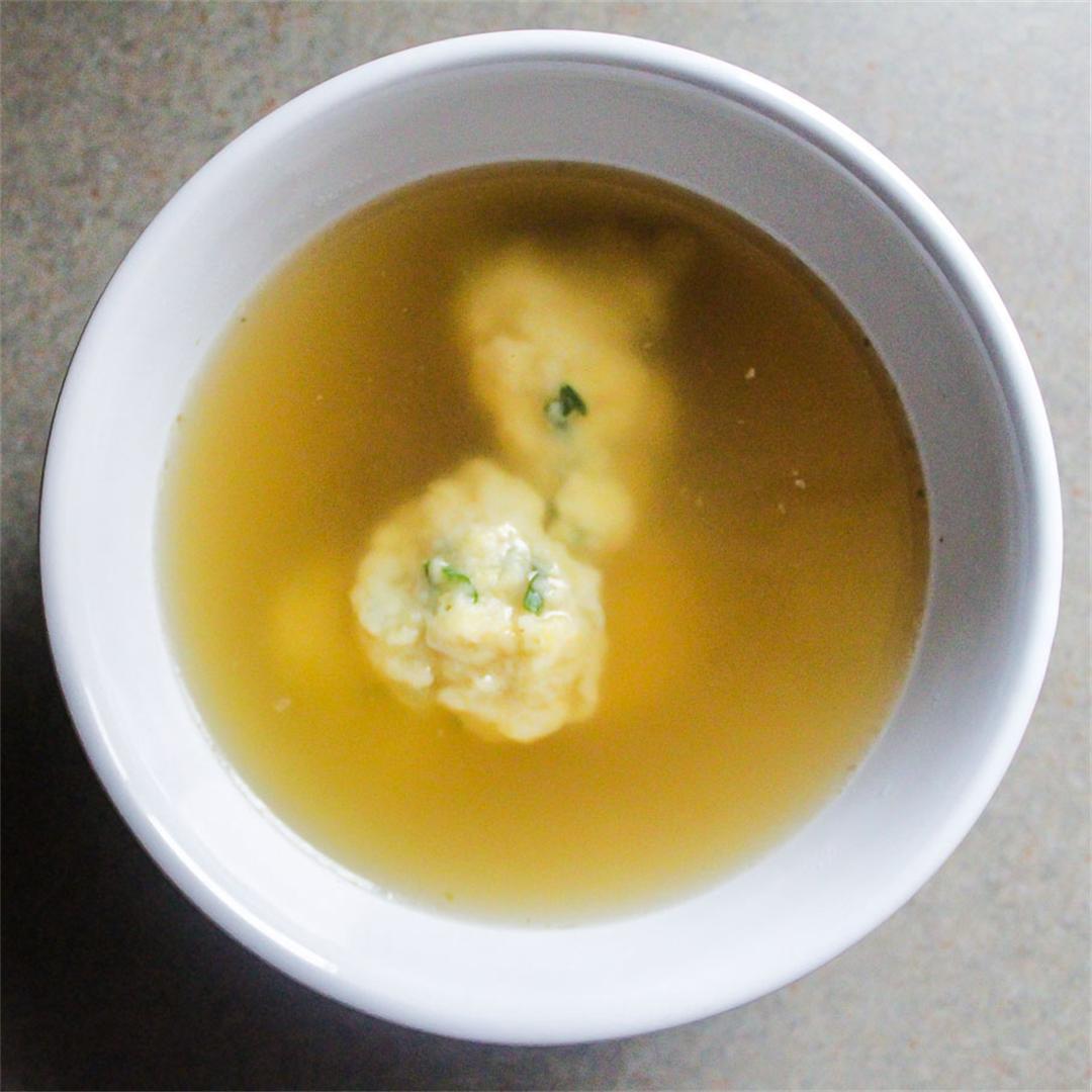Parmesan and Chive Dumpling Soup