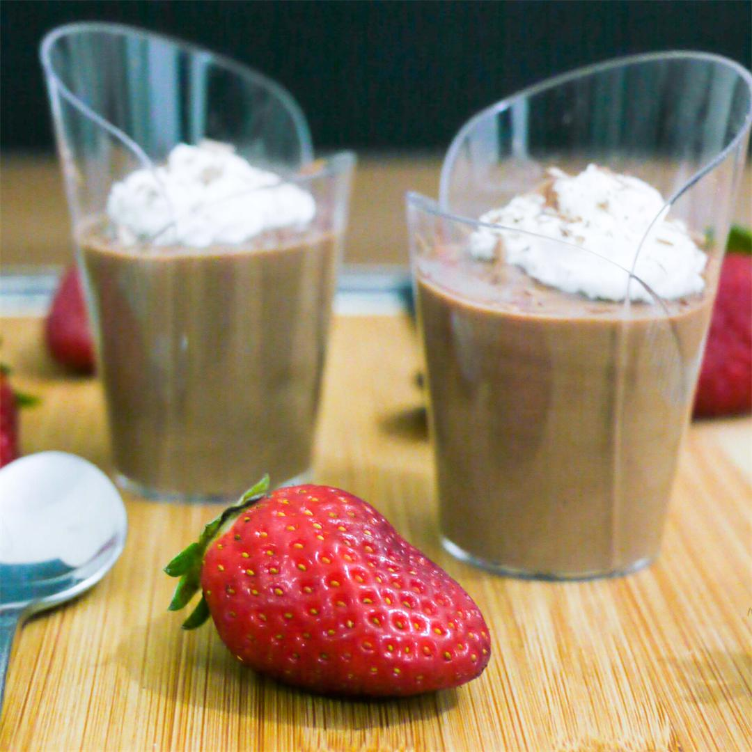 Easy Chocolate Mousse For two on Valentine's Day