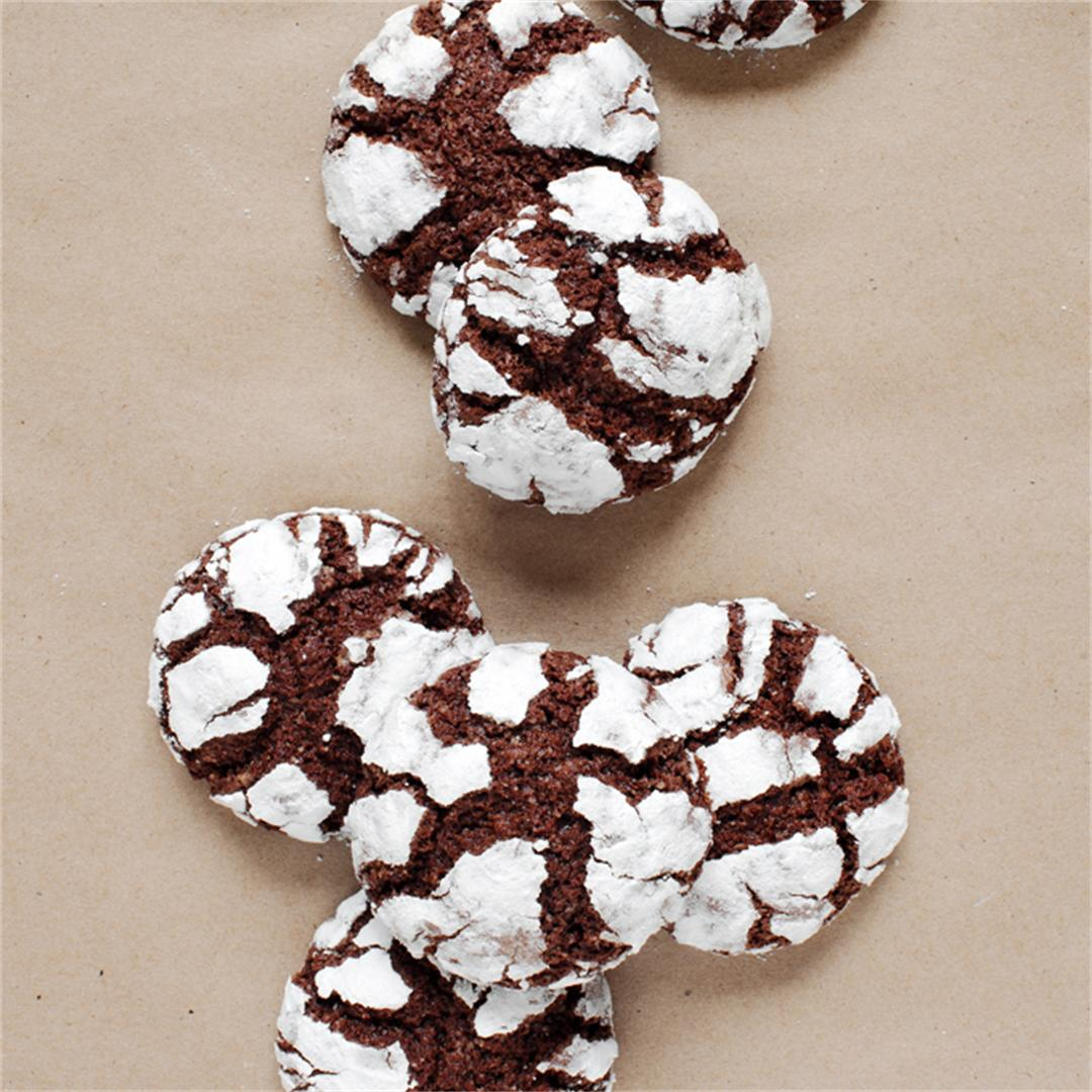Brownie Crinkle Mix Cookies