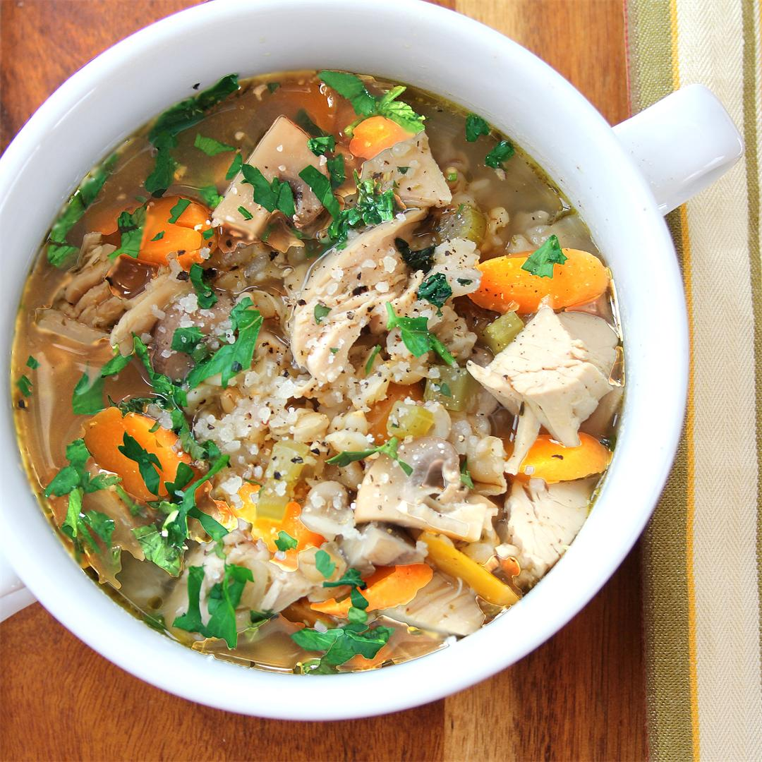 Soul-Warming Barley Chicken & Vegetable Soup
