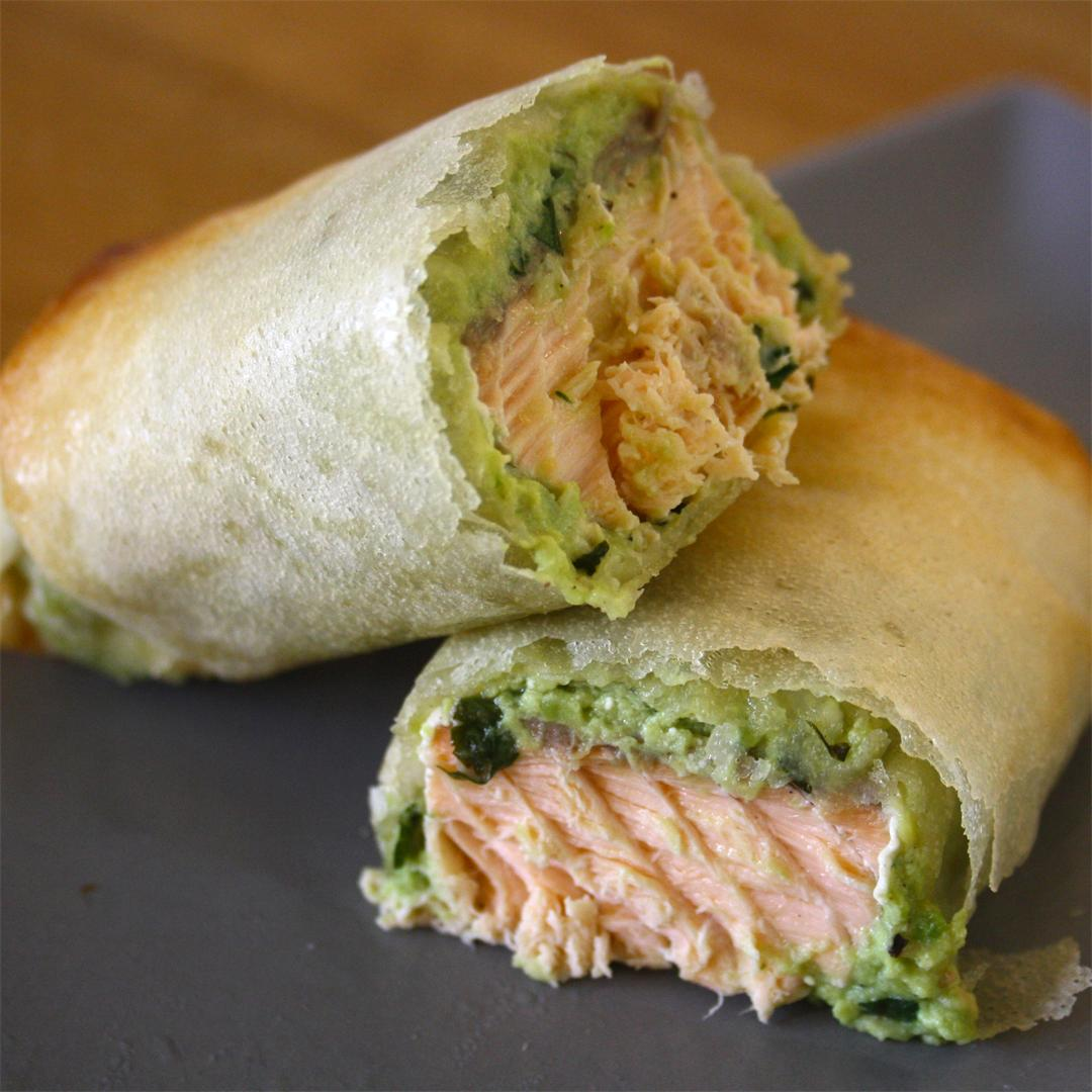 Salmon and Avocado Parcels