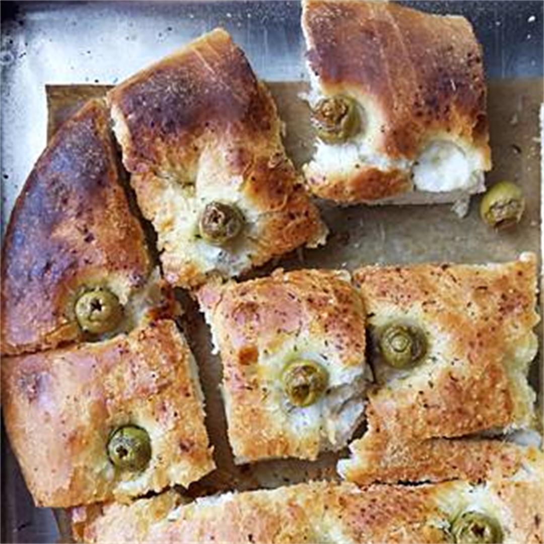 Vegan Olive & Herbs Focaccia