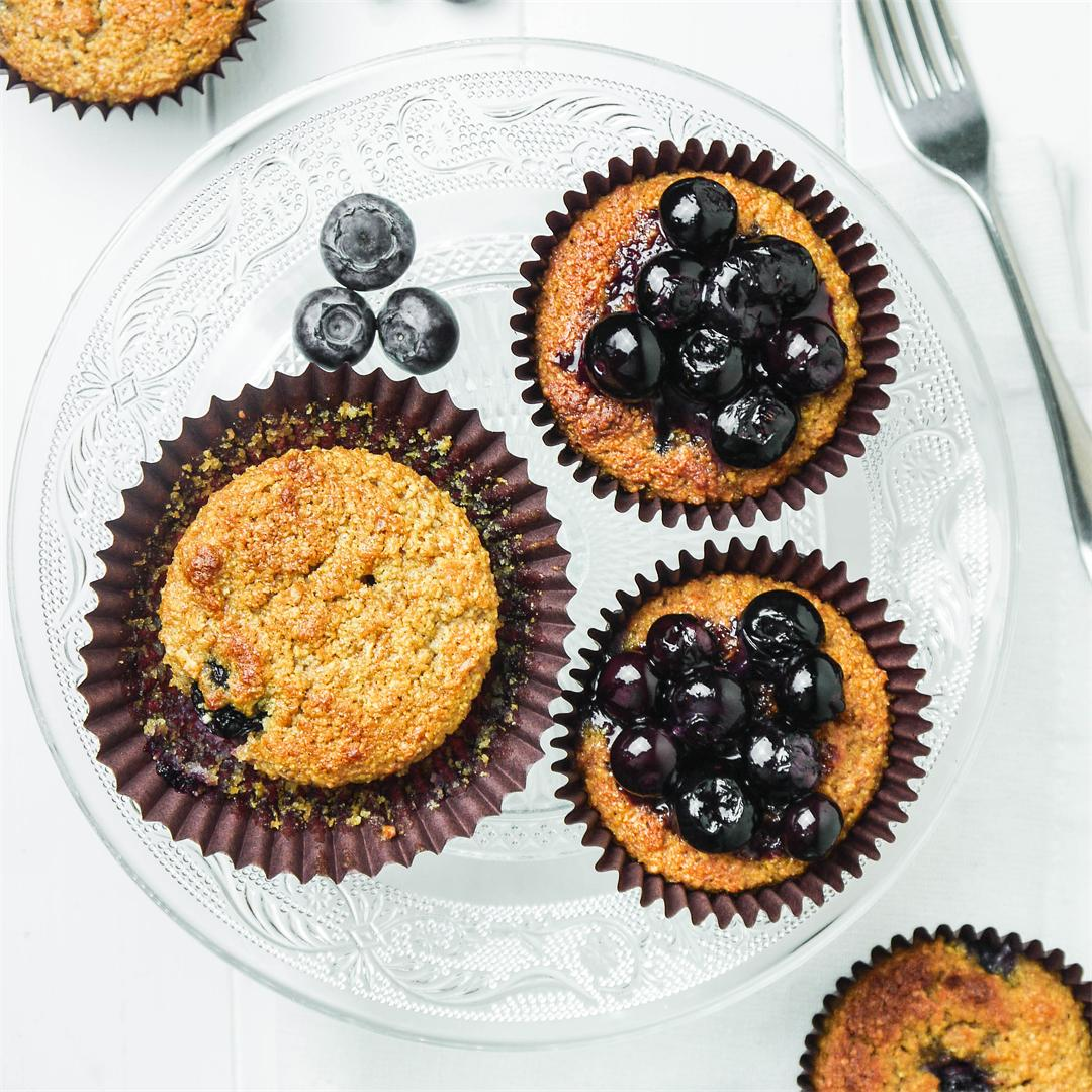 Blueberry & Carrot Breakfast Muffins